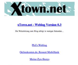 Die Anfänge: xTown.net 2003